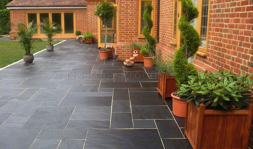 Blue Black Slate Paving Slabs Natural Patio Stone New