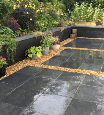 Blue Black Slate Paving