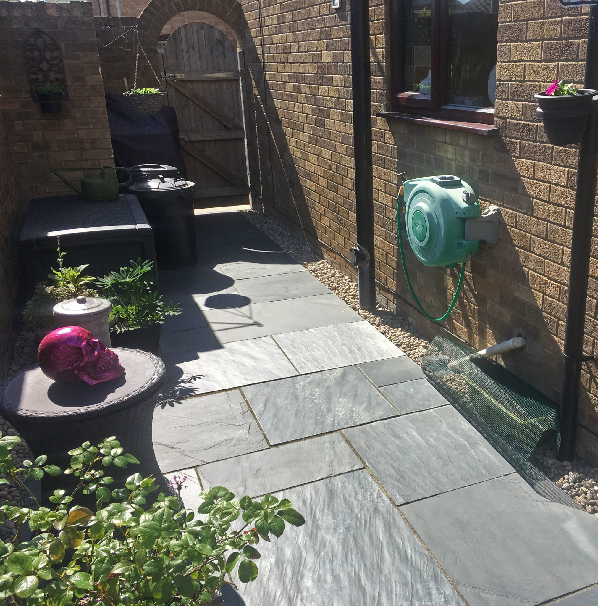 Blue Black Slate Patio Kit 4