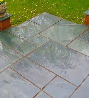 Green Grey Slate Paving 600x900