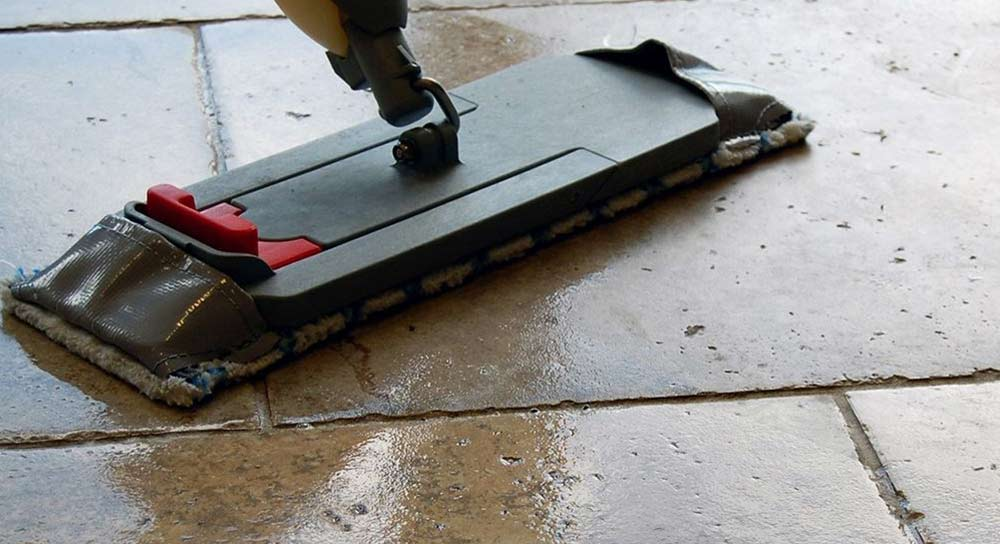 How to clean stone floor tiles